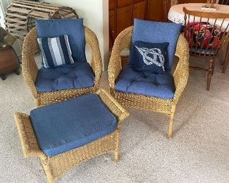 Resin Chairs & Footstool