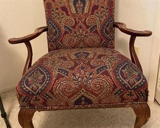 GREAT PERIOD ARM CHAIR WITH BALL AND CLAW FEET