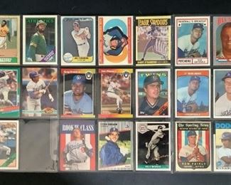 Assorted Baseball Trading Cards