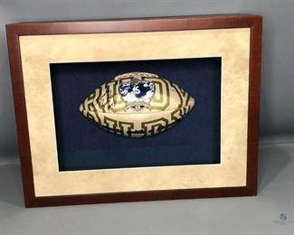"""Rudy"" Ruettiger Autographed Notre Dame vs Georgia Tech November 8, 1975 Collector's Football"