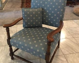 So cute...small upholstered arm chair.