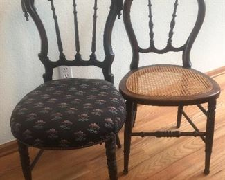 Adorable together antique side chairs