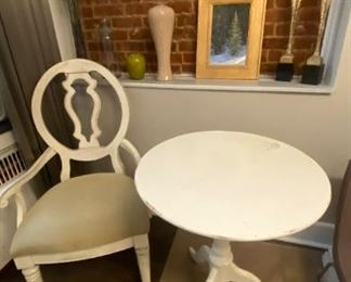 Accent Chair and Table