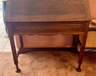 Antique wood secretary desk. $400