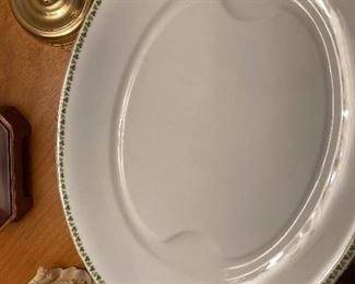 Porcelain Shamrock pattern platter.