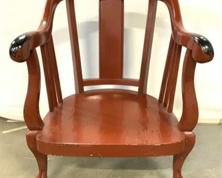 Painted Vintage Low Armchair W Claw Feet