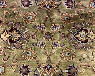 Wool Room-sized Oriental Fringed Carpet