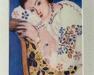 Signed Lithograph Attributed to HENRI MATISSE