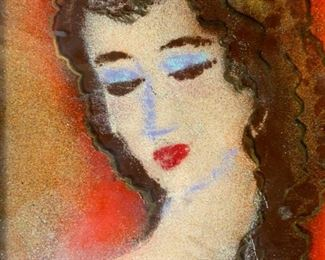SYBILLE Signed Reverse Painting