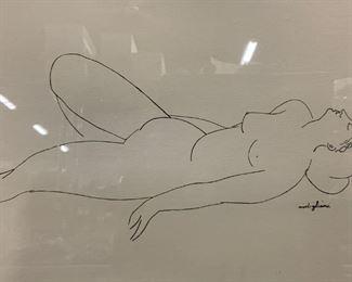 MODIGLIANI Signed Female Nude Lithograph