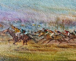 ZVI RAPHAELI Signed Oil Painting Artwork