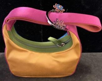 ESCADA Silk Purse in Vibrant Pink turquoise