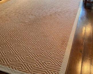 Sisal Diamond Patterned Design Custom Made Carpet