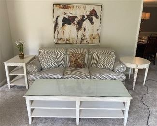 Ethan Allen couch, coffee table and end tables