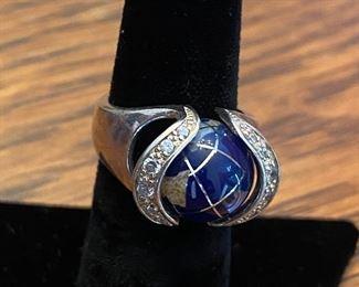 Sterling world ring
