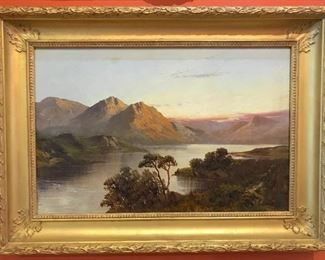 Jamieson, HIghlands Landscape, oil on canvas 12 x 24 in. circa 1920's $2900.   Sale Price $1649.00