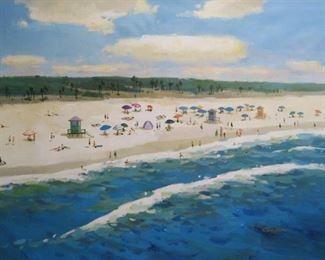 Gaston, Florida Keys Beach Scene, oil on canvas, 36 x 48 in. $3900. Sale price $2900.