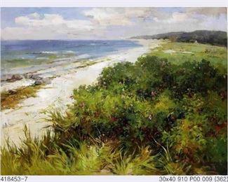 Williams, Florida Coastal Landscape oil on canvas 30 x 40 in., $2900.  Sale price $1900.