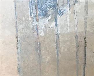 Urban Cueni B, Study for an Alpine Landscape, 53 x 53 in. oil on canvas, c. 1980. $5900.   Sale Price $4600.