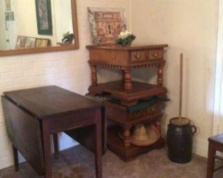 drop leaf table & pair of Broyhill Lenoir House end tables