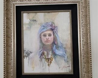 "Arabella Original oil by Pino Daeni art 18""x14"""