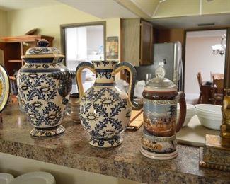 Ceramic vases, stein