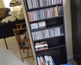 CD rack, lots of CD's