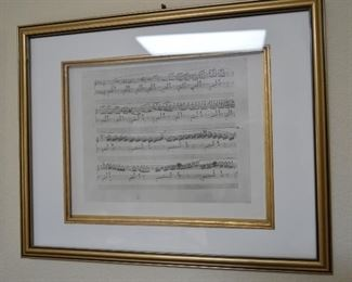 """Pictures above the """"not for sale"""" piano, Musical notes"""