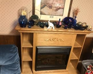 Electric Fireplace with bookshelf