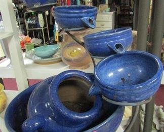 Blue Pots Waterfall Set - Garden