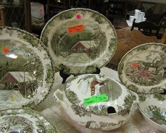 """Johnson Brothers - """"Friendly Village"""" 12 place settings with Completer Pieces - REg. $450 - 30% = $315 for entire set. You can buy ahead thru Sat. at 6pm"""
