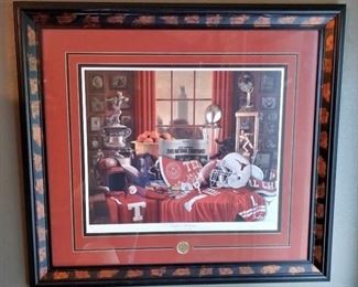 University of Texas Picture Signed and Numbered