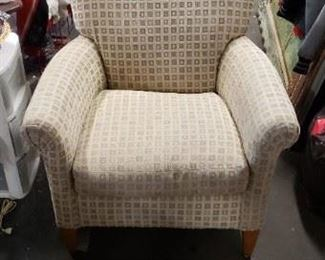 Rowe Furniture Upscale Neutral block Pattern Padded Armchair WAS $295 NOW $275