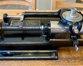 Lot 8216A  $425.00. Pre-sold Edison Home Phonograph Combination Type Model D, serial # 341949.  Thomas A. Edison et al at Orange, NJ + Suitcase of Cylinder Records and Set of Collector Books about Cylinder Records from 1877-1929