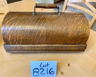 Lot 8216A  $425.00. Edison Home Phonograph Combination Type Model D, serial # 341949.  Thomas A. Edison et al at Orange, NJ + Suitcase of Cylinder Records and Set of Collector Books about Cylinder Records from 1877-1929
