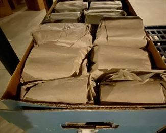 Lot 8216B.  $450.00   Over 300 Cylinder Records in paper wrapped in 2's and Singles in original Boxes.  The average around 5.00 apiece on eBay. We have a  Rocking deal at $1.50 ea.