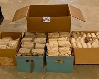 Lot 8216B.  $450.00   Over 300 Cylinder Records in paper wrapped in 2's and Singles in original Boxes.  The average around 5.00 apiece in eBay. We have a  Rocking deal at $1.50 ea.