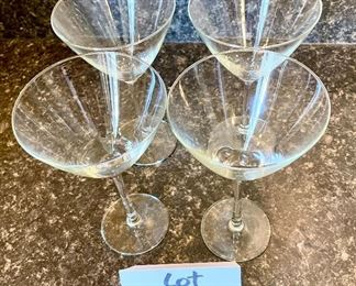 Lot 8232. $20.00. 4 Martini glasses that are the perfect size for a great cocktail!