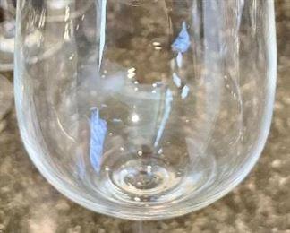 Lot 8231. $45.00.  9 Lenox Signed Wine Stems.  Very Nice Set!