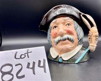 "Lot 8244. $40.00 Royal Doulton & Co.  Toby Mug ""Sancho Pança"" servant of Don Quixote.  Model #6456 approx, 7"" tall - Copyright 1956. 7"" x 7"""