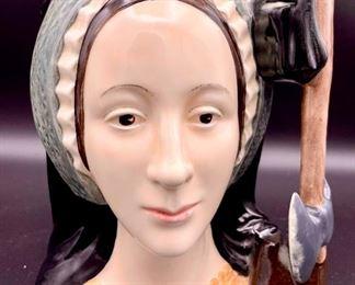 "Lot 8245.  $30.00. Royal Doulton & Co. ""Anne Boleyn"" Toby Jug, D6644 copyright 1975. 7"" T x 5"" W"