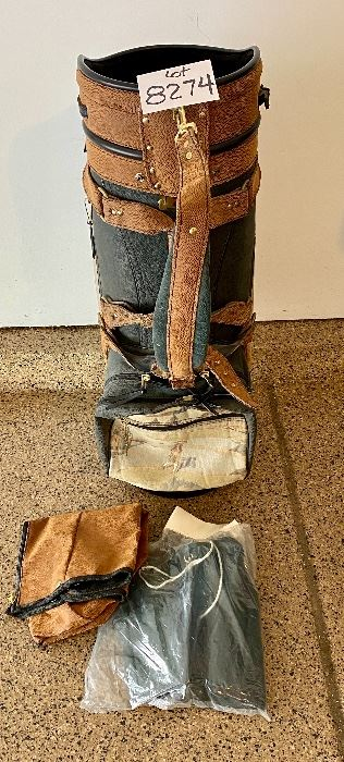 """Lot 8274. $125.00  Vintage Belding Golf Bag, 1997 """"OL Buddy Champion"""", Belding Sports Golf and Travel Bag, (America's Best) plus 3 head covers.  Rodney Dangerfield of """"Caddy Shack"""" would be jealous of this one!  All hand-crafted ."""