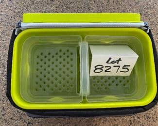"""Lot 8275. $35.00. Titan Deep Freeze Zipperless Coldlok """"Radiant Barrier Technology"""" Portable Cooler...very nice! This item has a plastic tray that sits above the bottom to keep your food dry."""