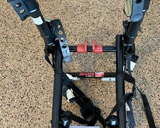 Lot 8277. $95.00. Allen Sports Model S102, 2 bike holder. 27.6 x 14.1 x 4 inches (Amazon has this model new for $199.00.)