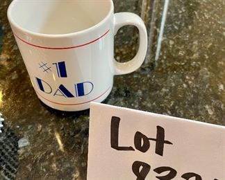 Lot 8321. $24.00 HAPPY FATHER'S DAY II !!  Weber Grill heavy duty spatula and tongs, a large meat tendering mallet, Progressive brand hamburger press AND .... a #1 Dad mug.  Happiest of Father's Days.
