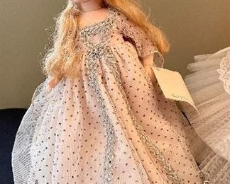 """Lot 8363. $32.00  Lot of 3 dolls """"Elise Bride"""" by Madame Alexander 15"""" T; Fairy Godmother by Madame Alexander and Renoir by Madame Alexander."""