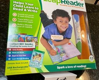Lot 8385. $75.00  Leap Frog Leap Reader - New in Box- Reading and writing system, Item #21301.  Retail $149.