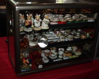 Limoges and other trinket boxes, Royal Doulton Bunny figurines, Hummel figurines.