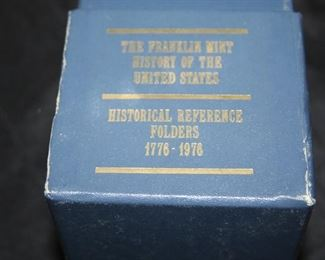 Franklin Mint - History of the United States Coin Set complete.