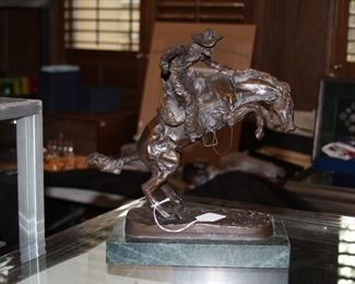 Bronze Sculpture - Bronco Buster by Frederic Remington